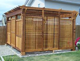 privacy gazebo