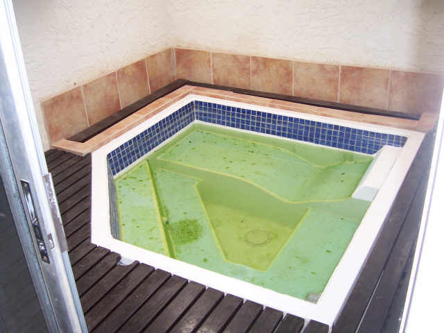 Green spa water