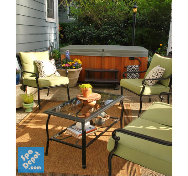 Spring patio decorating ideas hot tub blog for Patio accessories ideas