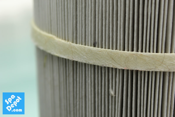 Dirty and worn spa filter