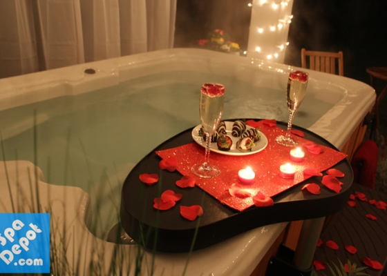 Valentines hot tub