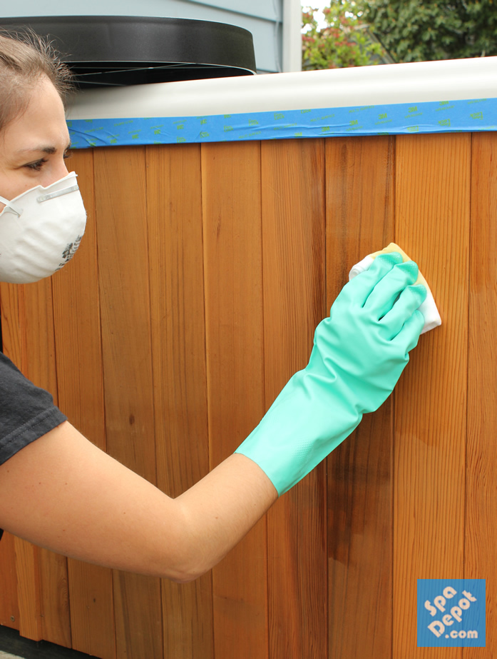 Use linseed oil to easily restore your wooden hot tub cabinets & furniture!