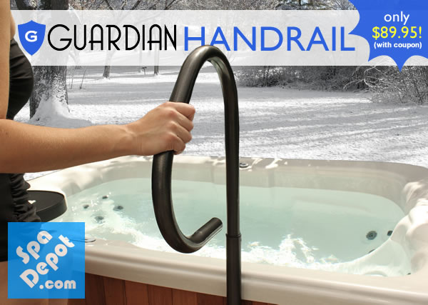Guardian Hot Tub Handrail winter (1)