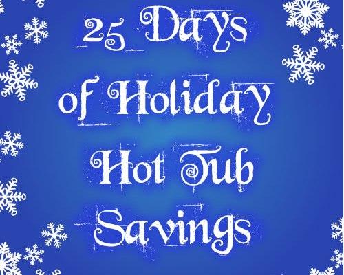 holiday hot tub savings