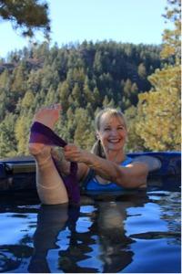 Hot tub yoga