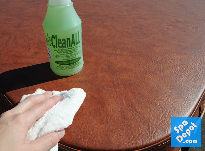 CleanAll on Spa Cover