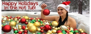 Hot tub filled with ornaments