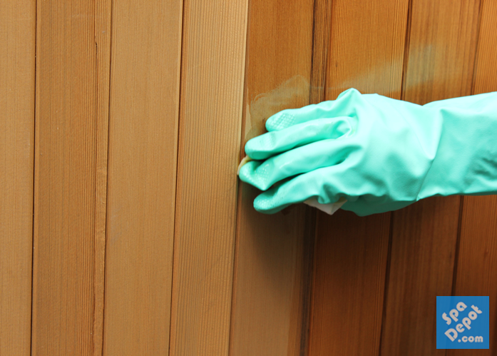 Restore your faded hot tub cabinet's natural colors