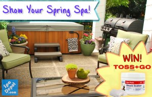 Spring decorated hot tub