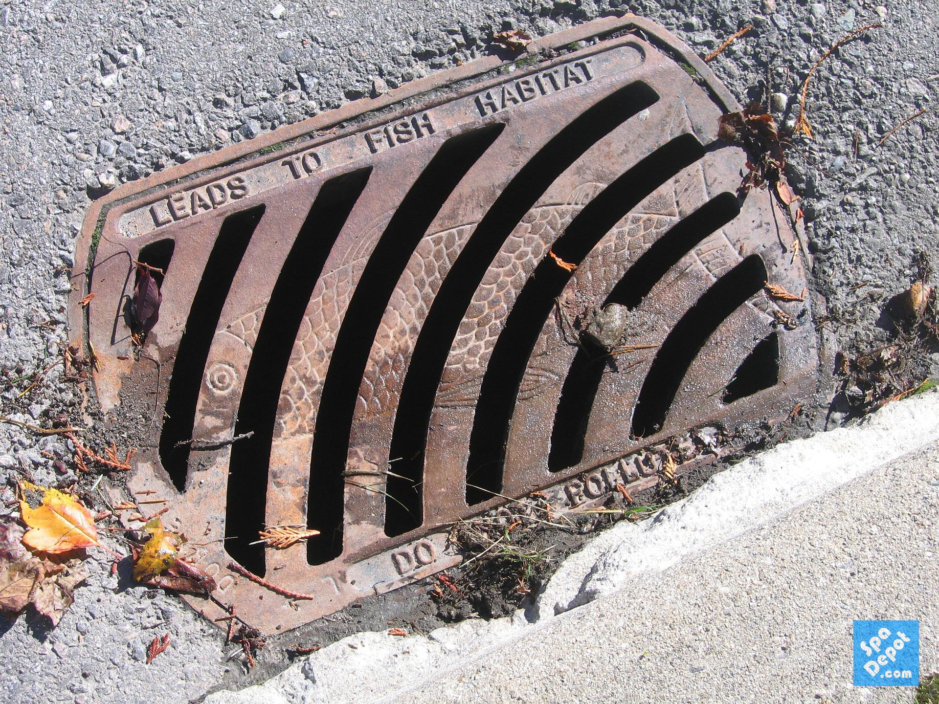 Manhole Drain = Not for draining spas!