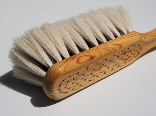 Use a dry brushing technique