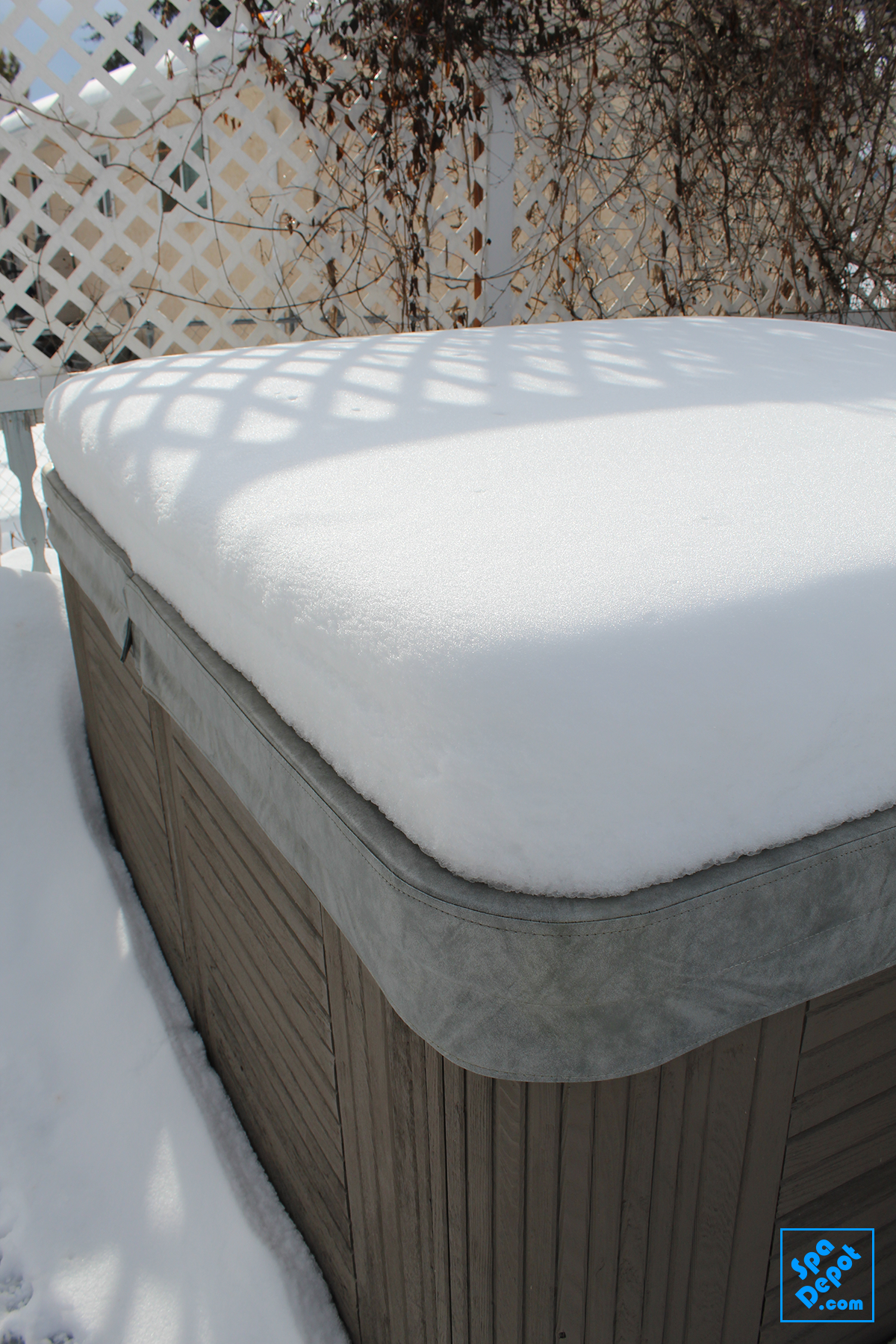 Snow Covered Hot Tub