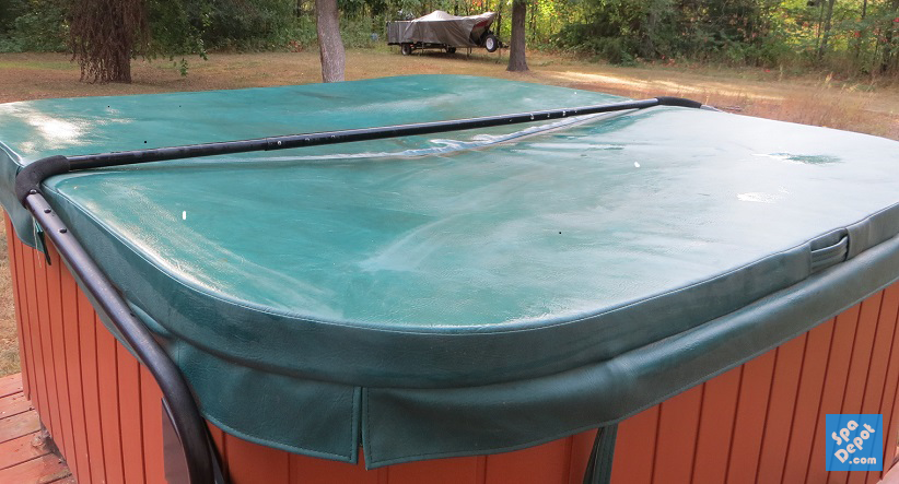 Warped, Water Saturated Hot Tub Cover