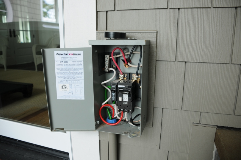 GFCI Disconnect installed on house