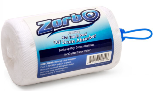 Zorbo floating hot tub & pool oil scum absorber