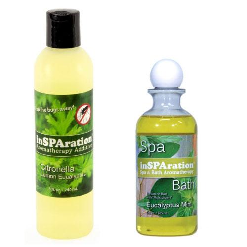 Citronella lemon eucalyptus and eucalyptus mint hot tub aromatherapy